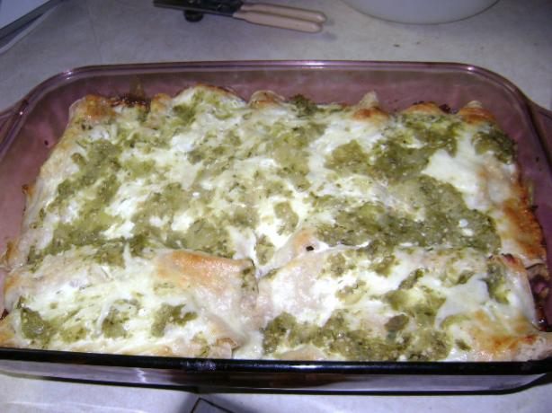 Chicken and Green Chile Enchiladas With Goat Cheese Cream Sauce. Photo ...