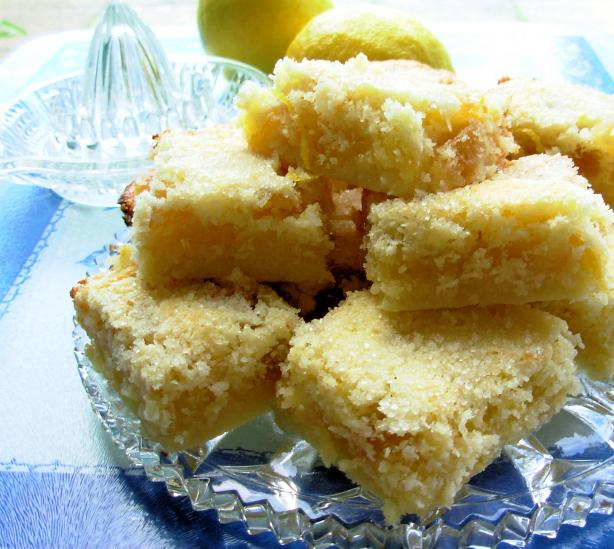 Lemon Squares With Candied Ginger. Photo by French Tart