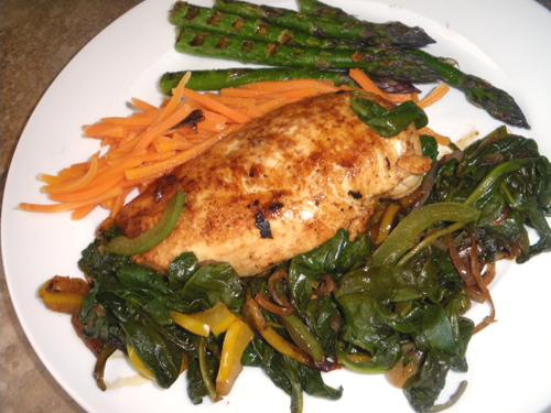 Chicken With Balsamic Glaze And Fresh Spinach Recipe - Food.com