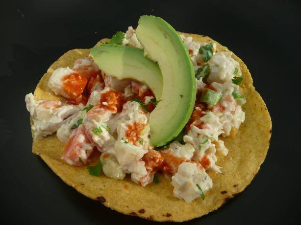 Chicken Salad Tostadas. Photo by cookiedog