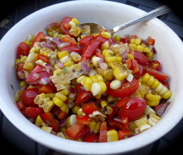 Roasted Corn and Tomato Relish. Photo by Chicagoland Chef du Jour