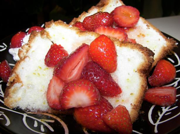 Angel Food Cake With Fresh Fruit And Lime Drizzle Recipe - Food.com