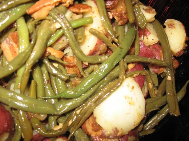 Green Beans, New Potatoes With Bacon. Photo by charlie #5