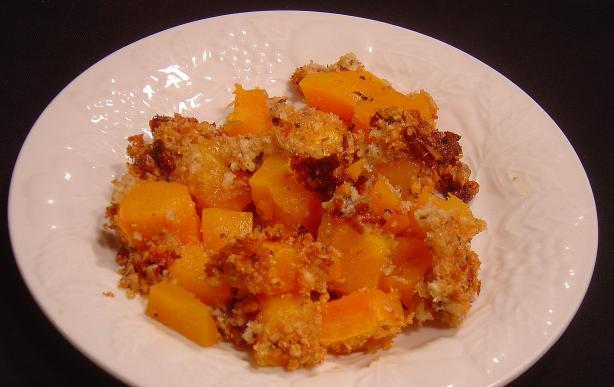 Baked Butternut Squash and Parmesan Cheese Gratin. Photo by Sue Lau