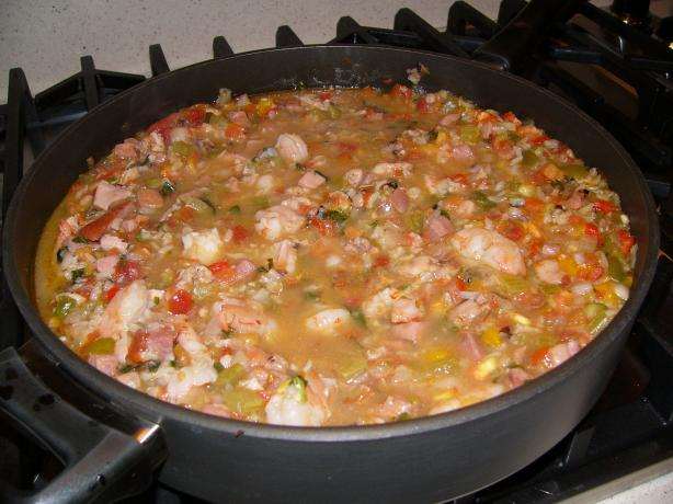 Chicken, Shrimp, And Ham Jambalaya Recipe - Food.com