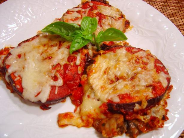 Baked Eggplant With Mushroom-And-Tomato Sauce Recipe ...