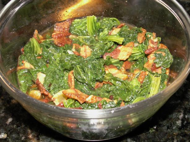 Neelys Braised Mustard Greens With Bacon And Raisins ...