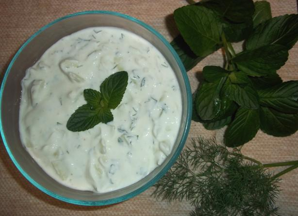 Tzatziki Sauce-- Greek Cucumber/Yogurt Sauce. Photo by tommichob