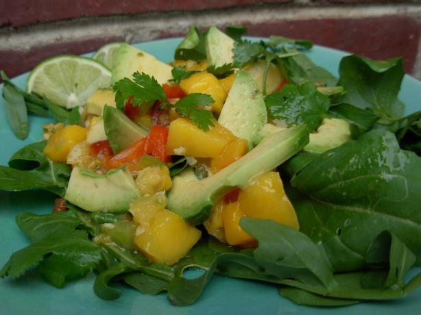 Http Www Food Com Recipe Mango Avocado And Arugula Salad
