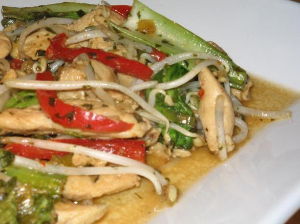 Thai Style Chicken Stir Fry. Photo by The Flying Chef