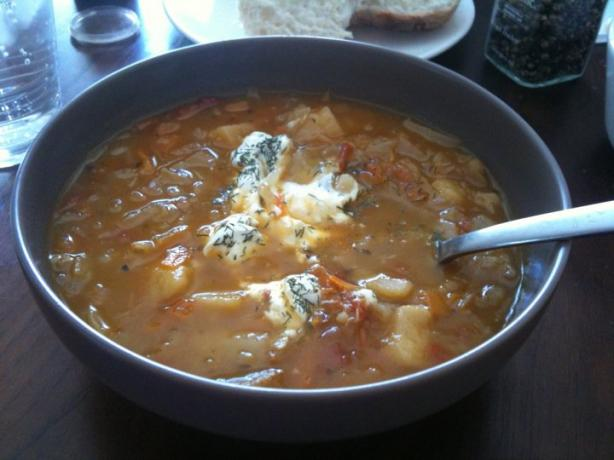 Shchi - Russian Cabbage Soup. Photo by Kristine at Food.com