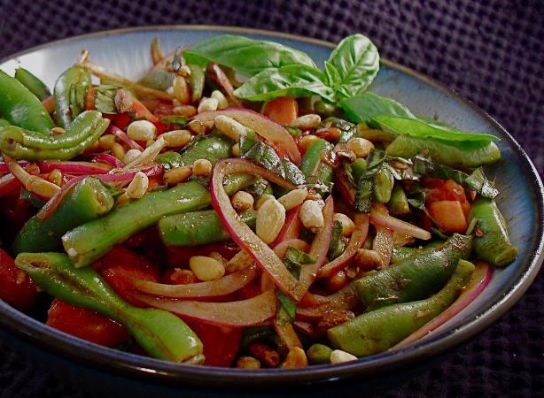 Basil And Balsamic Green Bean Salad Recipe - Southern.Food.com
