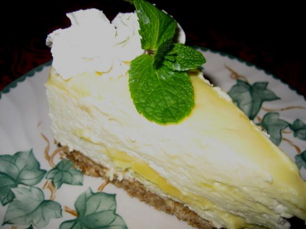 Lemon Cheesecake With Gingersnap Crust. Photo by Halcyon Eve