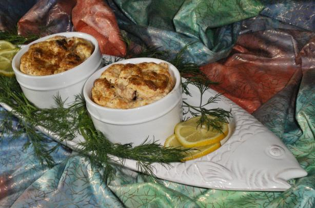 Leek and Salmon Souffle. Photo by Julie B's Hive