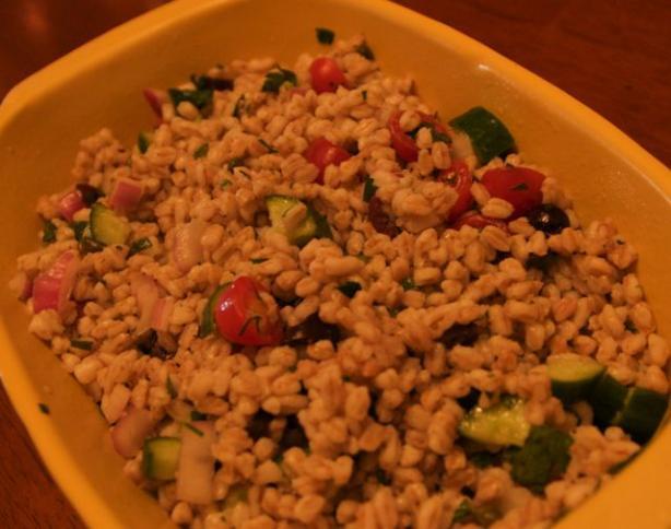 Summer Farro (Emmer) Salad. Photo by Chandra M