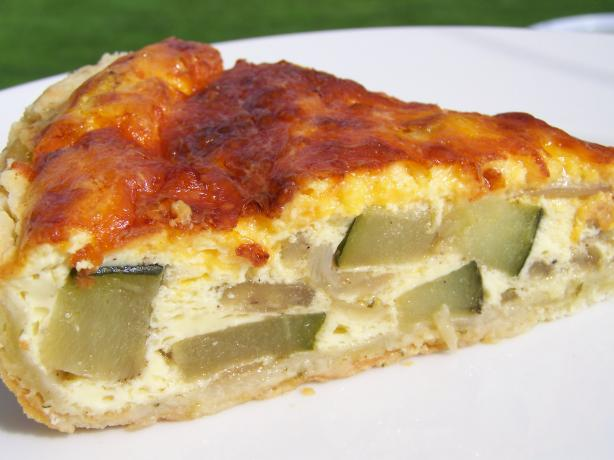 Zucchini, Jalapeno, Cheddar Crustless Quiche. Photo by Diana #2