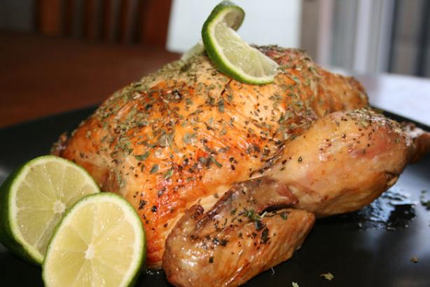 Easy Lime Basil Roast Chicken. Photo by **Tinkerbell**