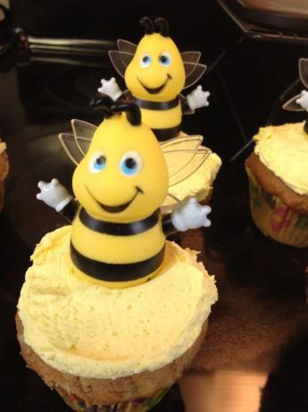 Banana Cupcakes With Honey-Cinnamon Frosting. Photo by jagmichigan