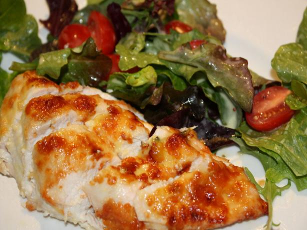 Parmesan-Crusted Chicken With Arugula Salad. Photo by **Jubes**