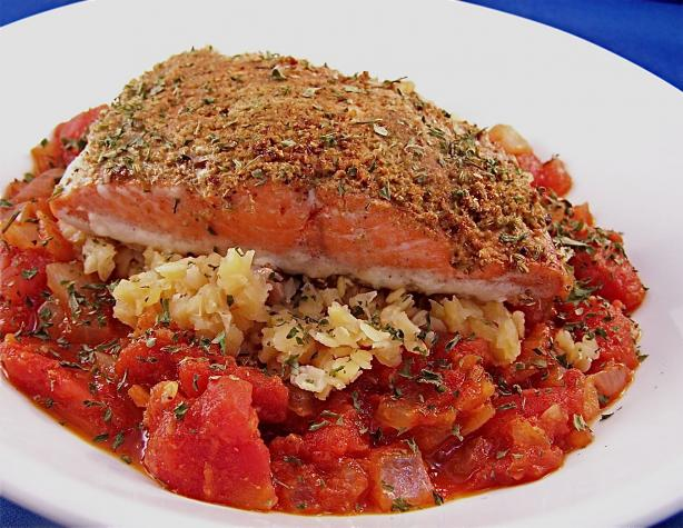 Moroccan Spiced Salmon Over Lentils Recipe - Food.com