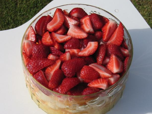 Layered Summer Fruits With Creamy Lime Dressing Recipe — Dishmaps