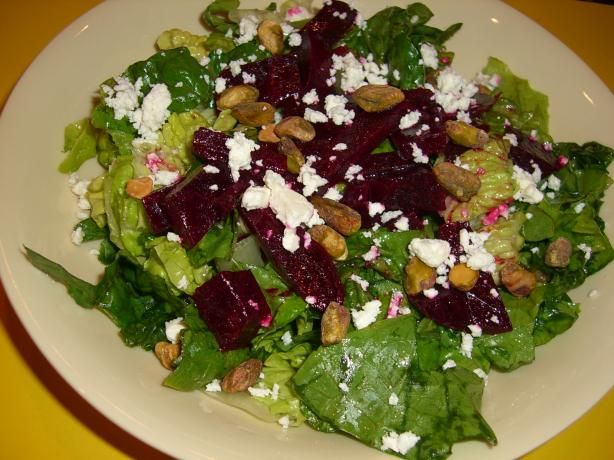 Beet Salad With Pistachios and Feta Cheese. Photo by Chef*Lee
