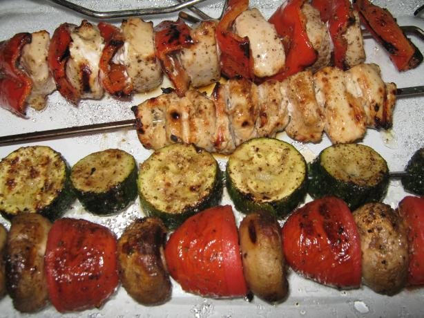 Rosemary Ranch Chicken Kabobs. Photo by Steak&Taters