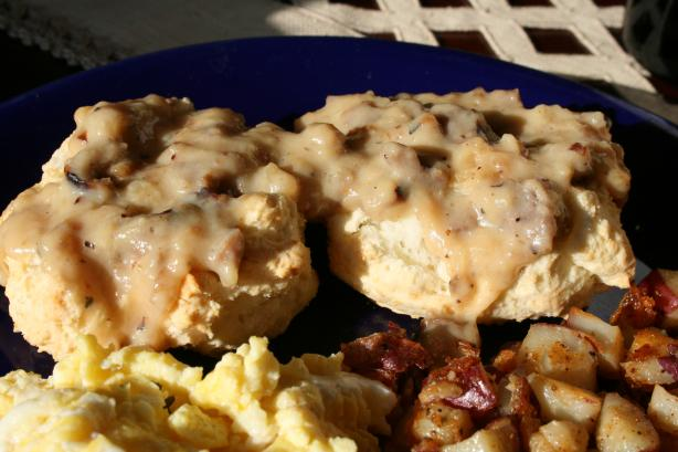 Traditional Biscuits N' Gravy (W/Sausage - Gluten Free). Photo by ...