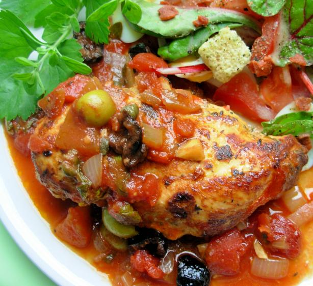 Chicken With Tomatoes And Olives Recipe - Food.com