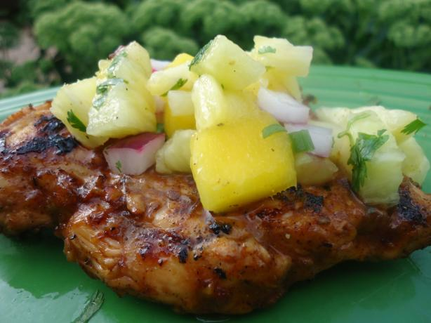 Taxi Stand Jerk Chicken With Pineapple Mango Salsa Recipe - Food.com