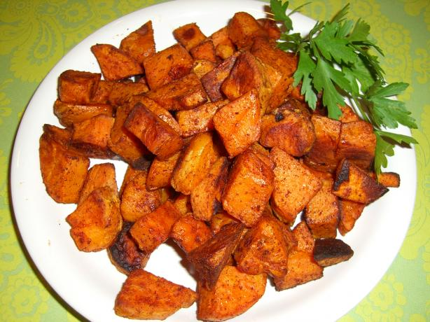 Spicy Chipotle-Cinnamon Roasted Sweet Potatoes Recipe ...