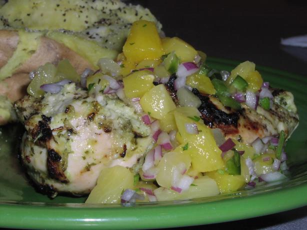 Caribbean Chicken With Pineapple Salsa..... Photo by TeresaS