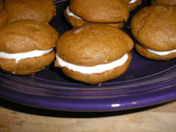 Pumpkin Whoopie Pies With Cream-Cheese Filling. Photo by Queen Dana