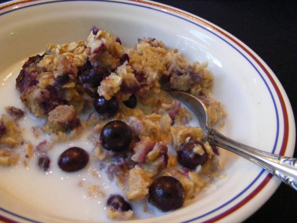 Baked Blueberry Oatmeal. Photo by Seasoned Cook