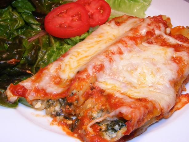 Spinach Cheese Manicotti Recipe - Food.com
