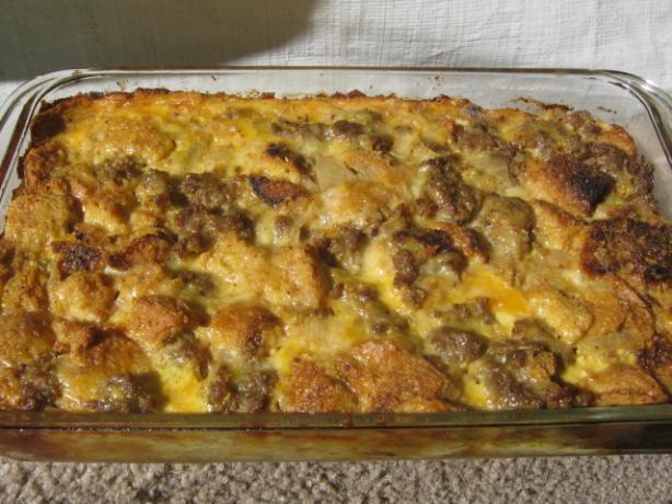 Christmas Breakfast Sausage Casserole Recipe — Dishmaps
