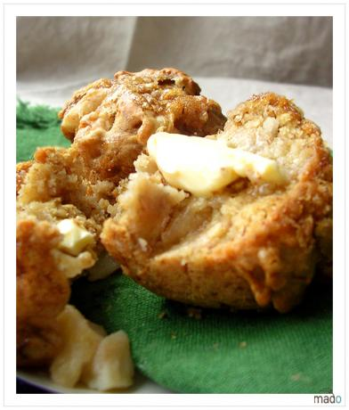Banana Apple Strudel Muffins. Photo by maddymaba