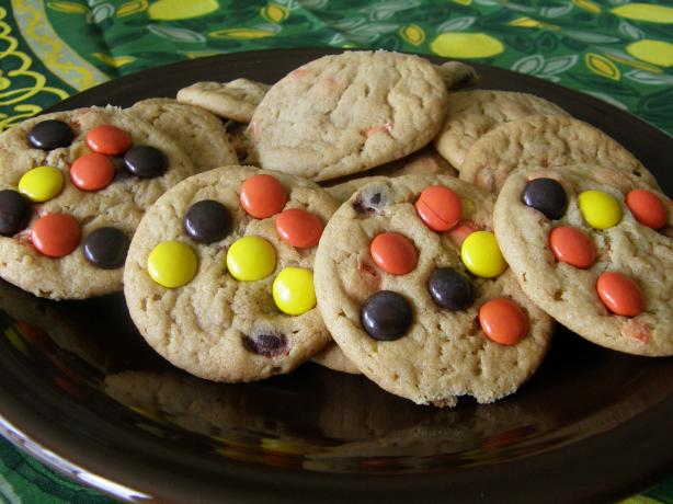 Peanut Butter Reeses Pieces Giant Cookiefor One Recipes — Dishmaps
