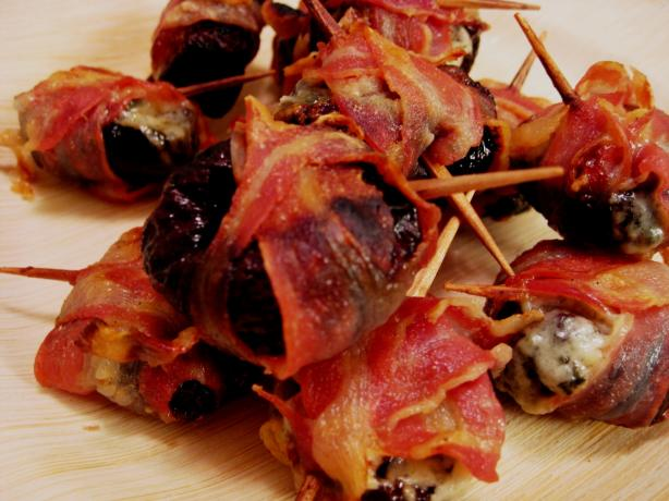 Oven-Roasted Prunes Wrapped With Pancetta. Photo by BarbryT