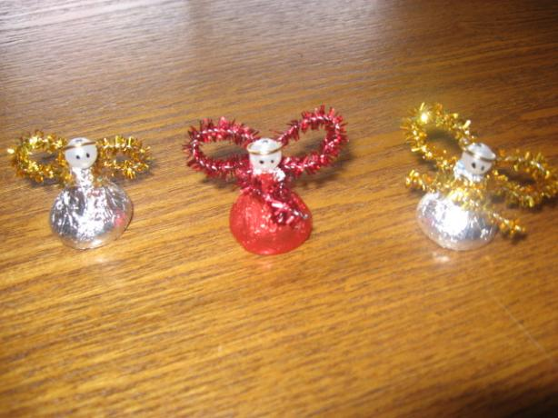 christmas angel hershey kiss ornament craft recipe  food