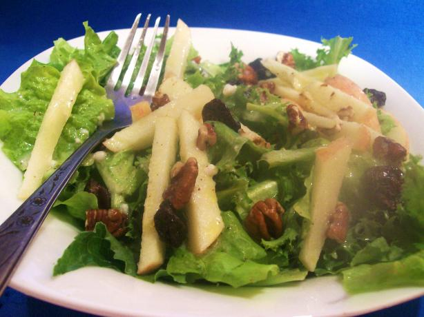 Apple, Dried Cherry, And Pecan Salad With Maple Dressing Recipe - Food ...