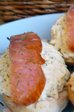 Smoked Salmon and Egg Salad Tartines. Photo by twissis