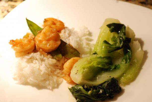 Stir-Fried Ginger Shrimp With Snow Peas. Photo by carmenskitchen