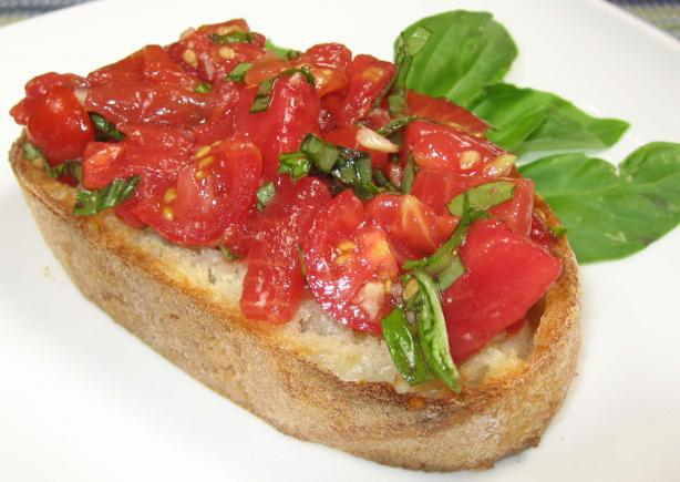 Bruschetta With Tomatoes and Basil. Photo by dianegrapegrower