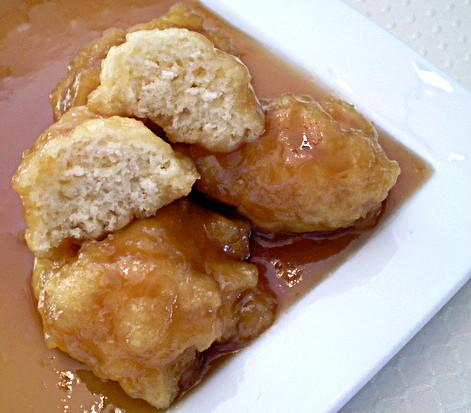 Maple Syrup Grandfathers (Sweet Dumplings). Photo by TasteTester
