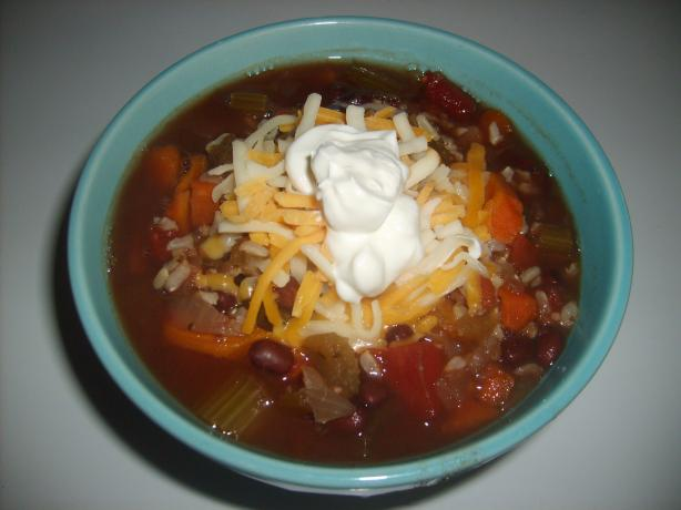 Crock Pot Black Beans and Rice Soup. Photo by Mrs. Muffins