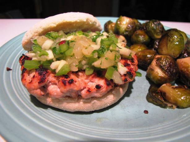 Jamaican Jerk Turkey Burgers With Tropical Fruit Salsa Recipe - Food ...