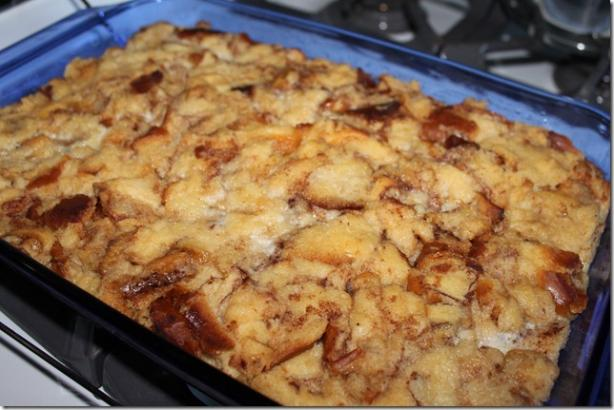 Cinnamon Roll Bread Pudding. Photo by jafacakes