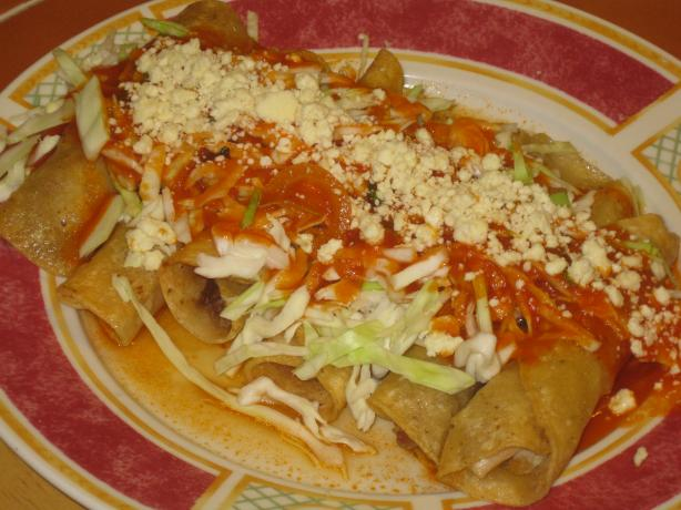 Flautas With Shredded Chicken. Photo by Chef Sarita in Austin Texas
