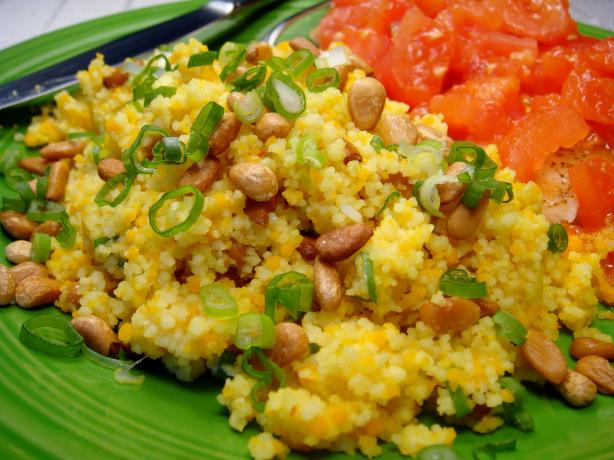 Saffron-Scented Couscous With Pine Nuts. Photo by Lori Mama